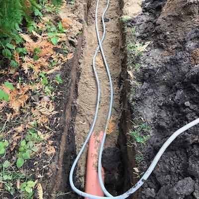 Укладка трубопроводов наружной канализации