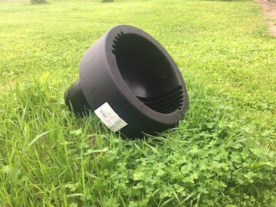 Дождеприемная воронка Упонор монтируется на гладкий конец трубы 110 диаметра. Универсальное решение - задерживает листву и различный мусор, а так же отводит большие объемы воды.