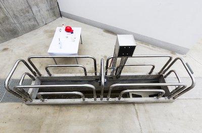 Флотатор в подземном исполнении, размещен на большой автомойке.