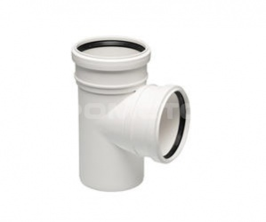 Тройник канализационный для соединения труб между собой
